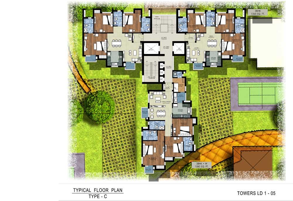 C:\Users\Vishal Amler\Desktop\RSP\Tower-C Tower C Typical Floor