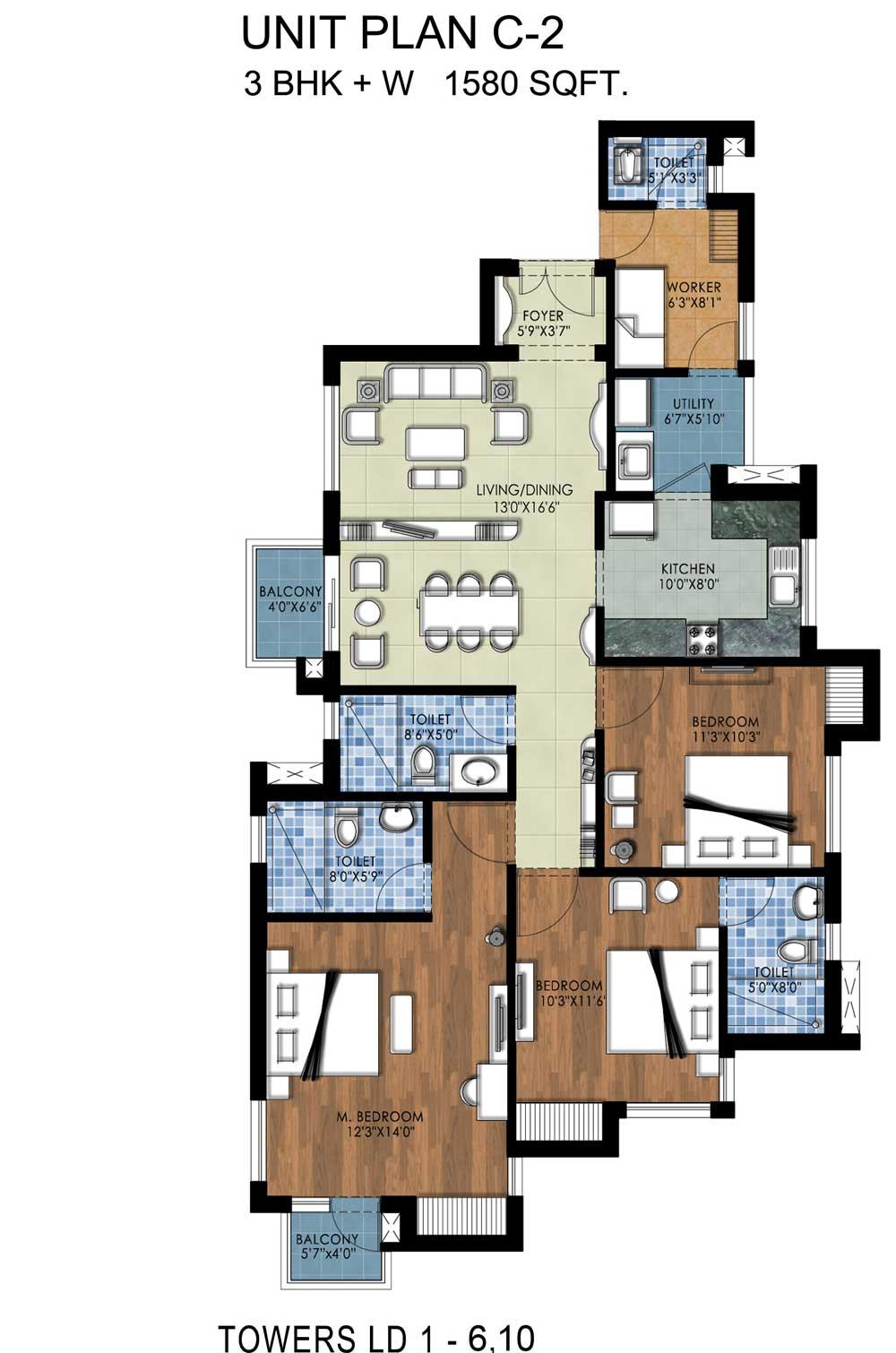 C:UsersVishal AmlerDesktopRSPTower-C Tower C Typical Floor
